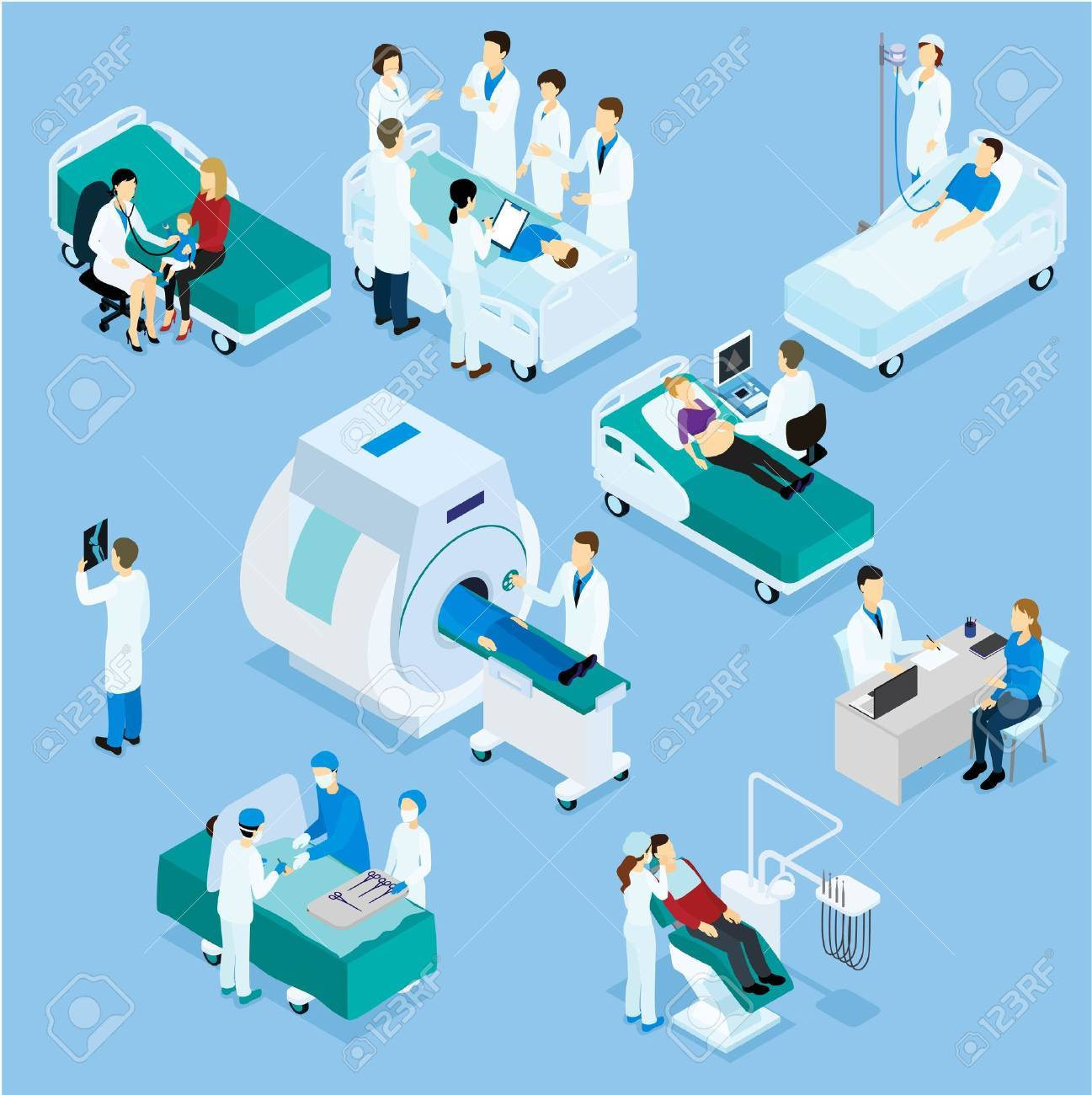 Healthcare Isometric Set - 70791676