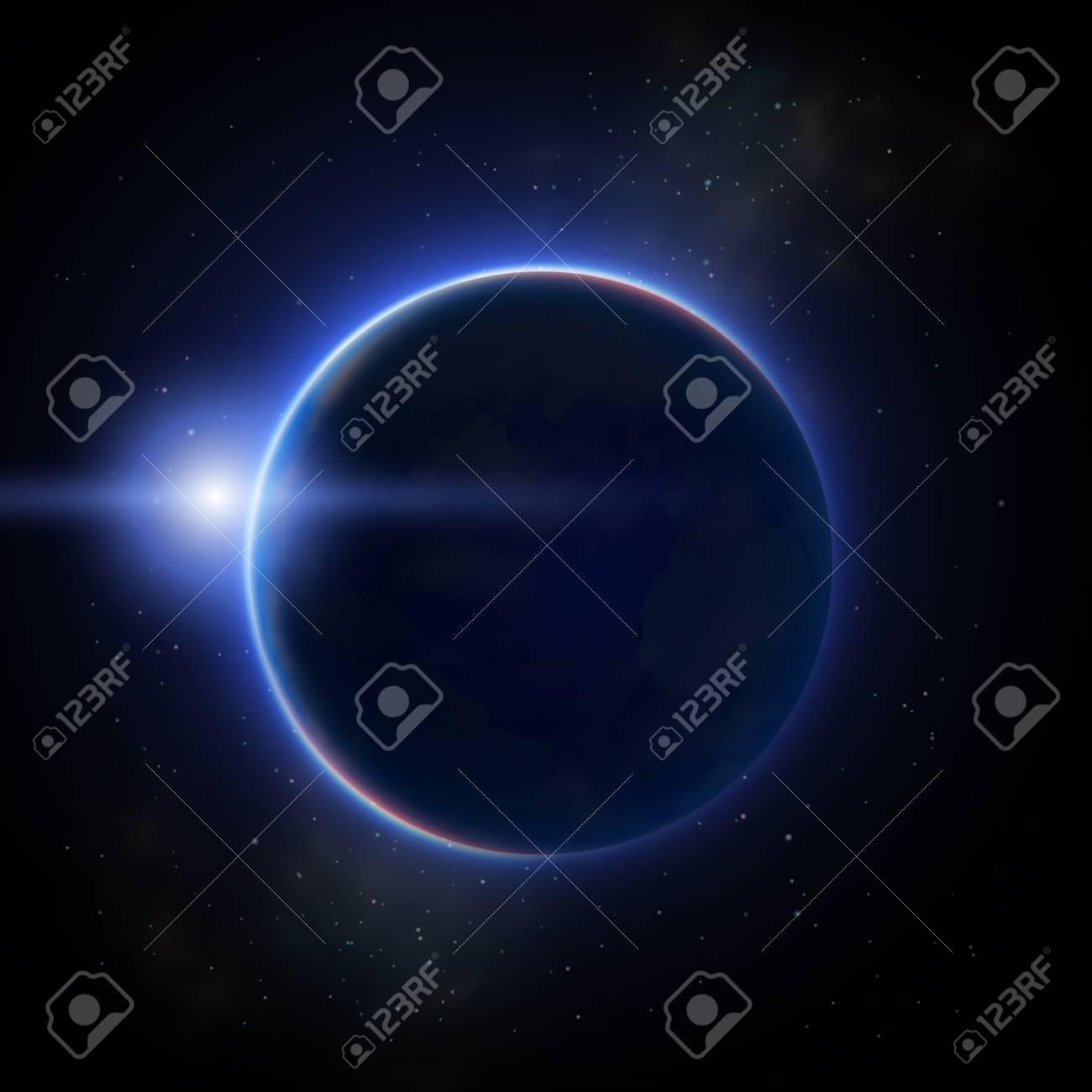Moon Eclipse Illustration vector - 89691364