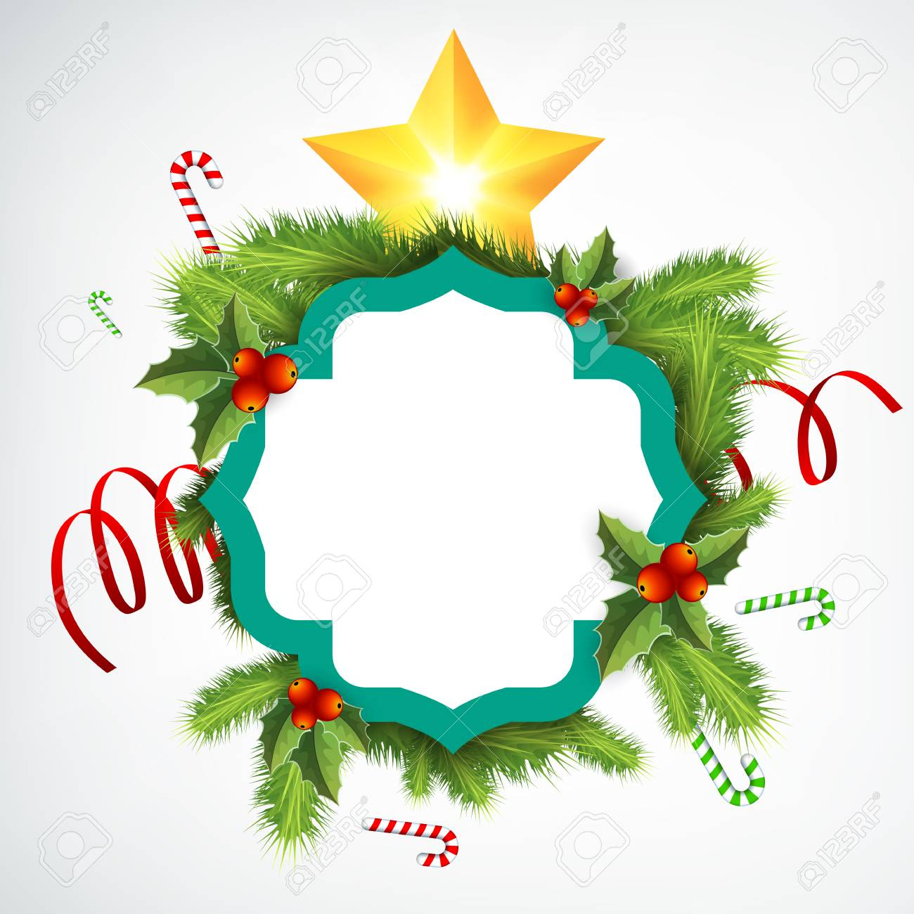 realistic christmas wreath template royalty free cliparts vectors