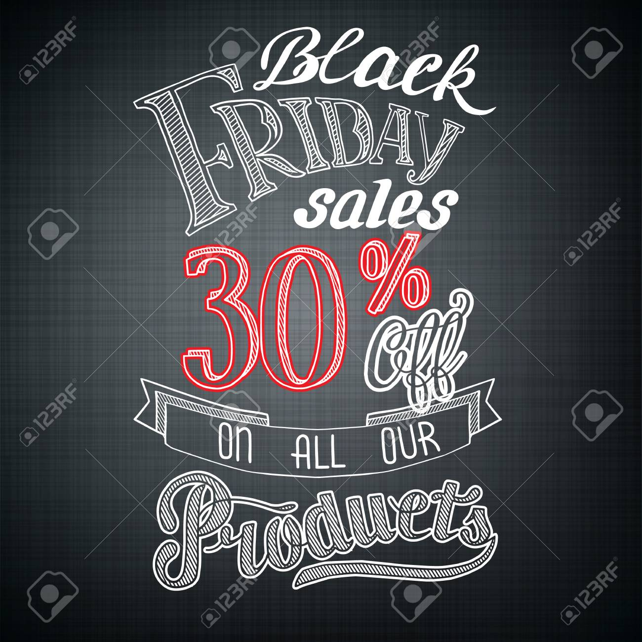 Typographic Black Friday Announcement With Advertising Text And Royalty Free Cliparts Vectors And Stock Illustration Image 128174169
