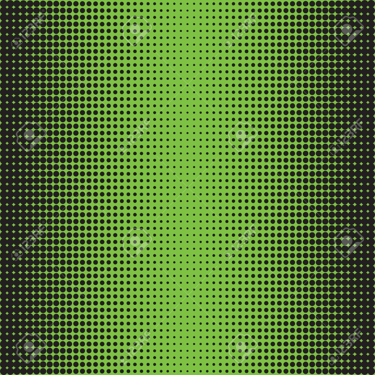 Comic Book Background Halftone Dots Black On Green Texture