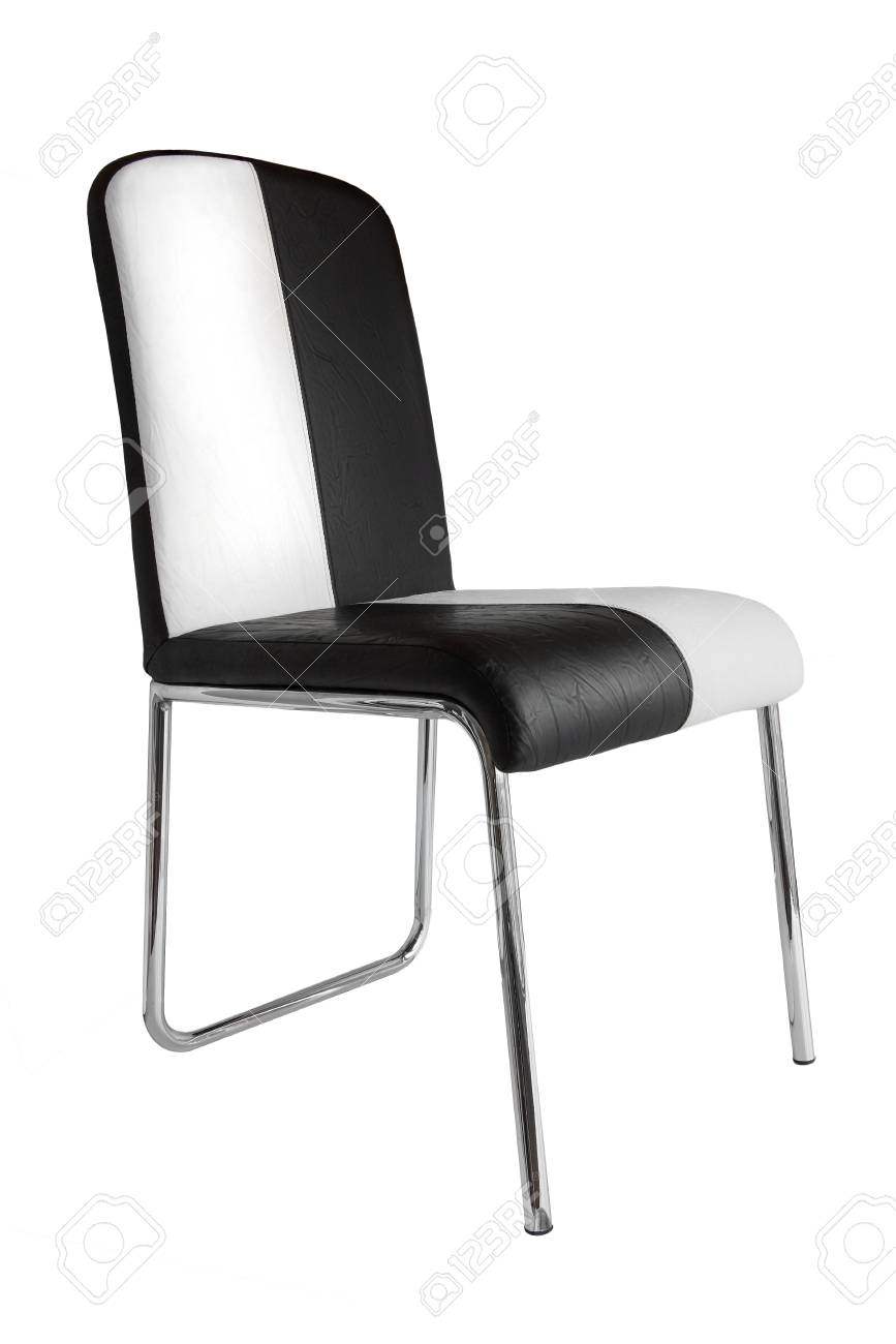 Leather kitchen chair on a white background