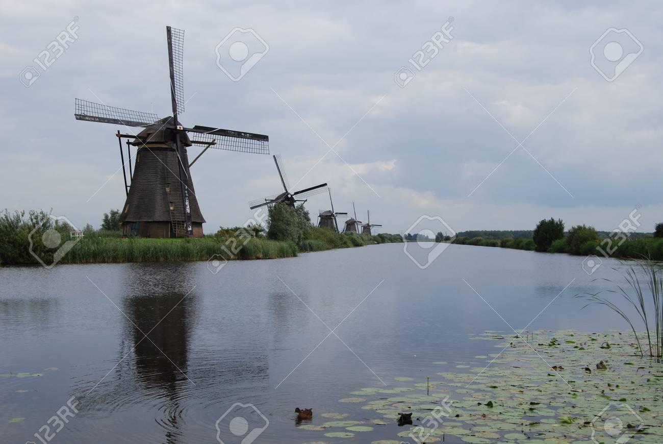 Windmill in Kinderdijk Stock Photo - 3703208
