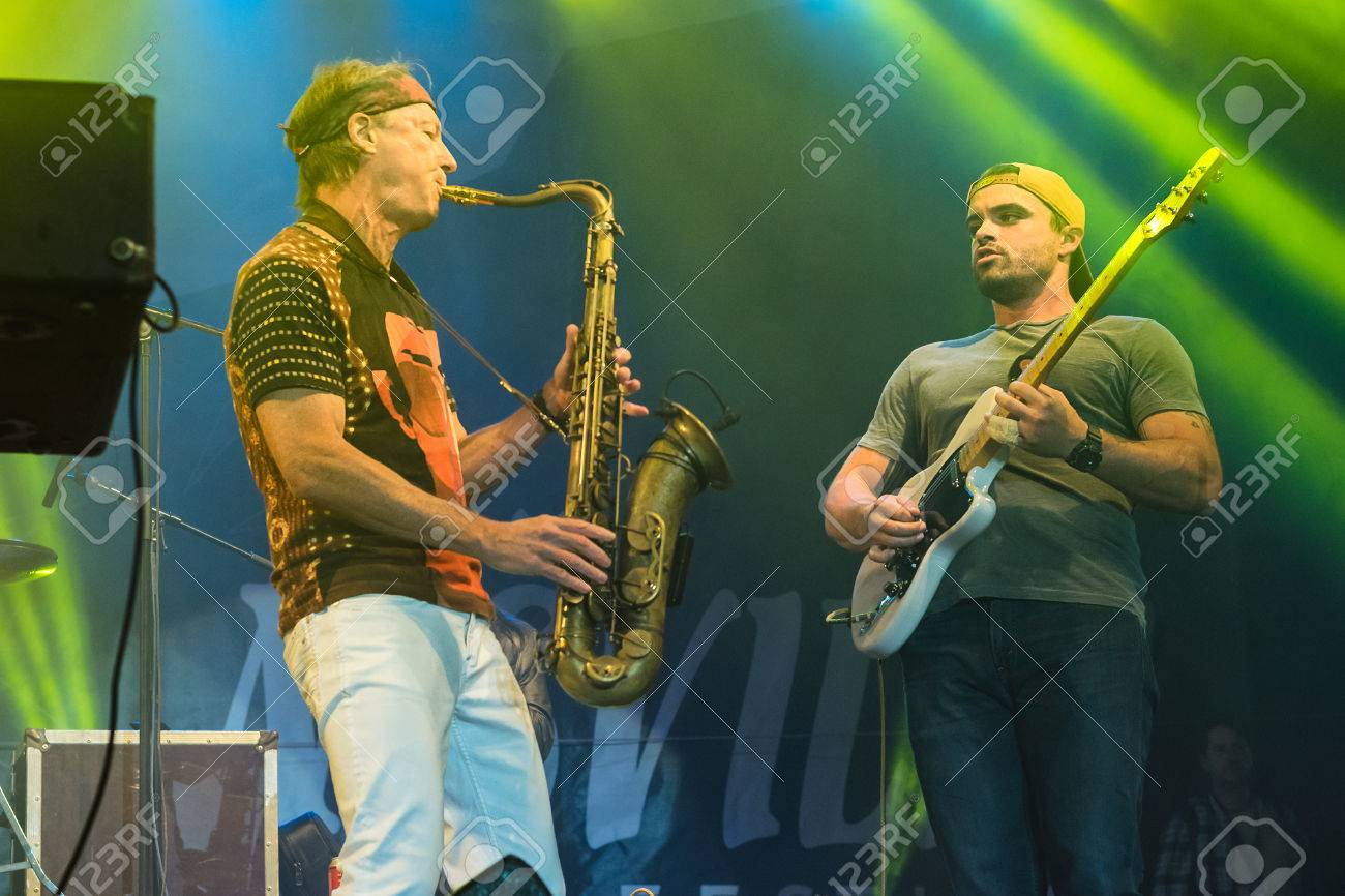 NIS, SERBIA - AUGUST 13: American jazz saxophonist Bill Evans