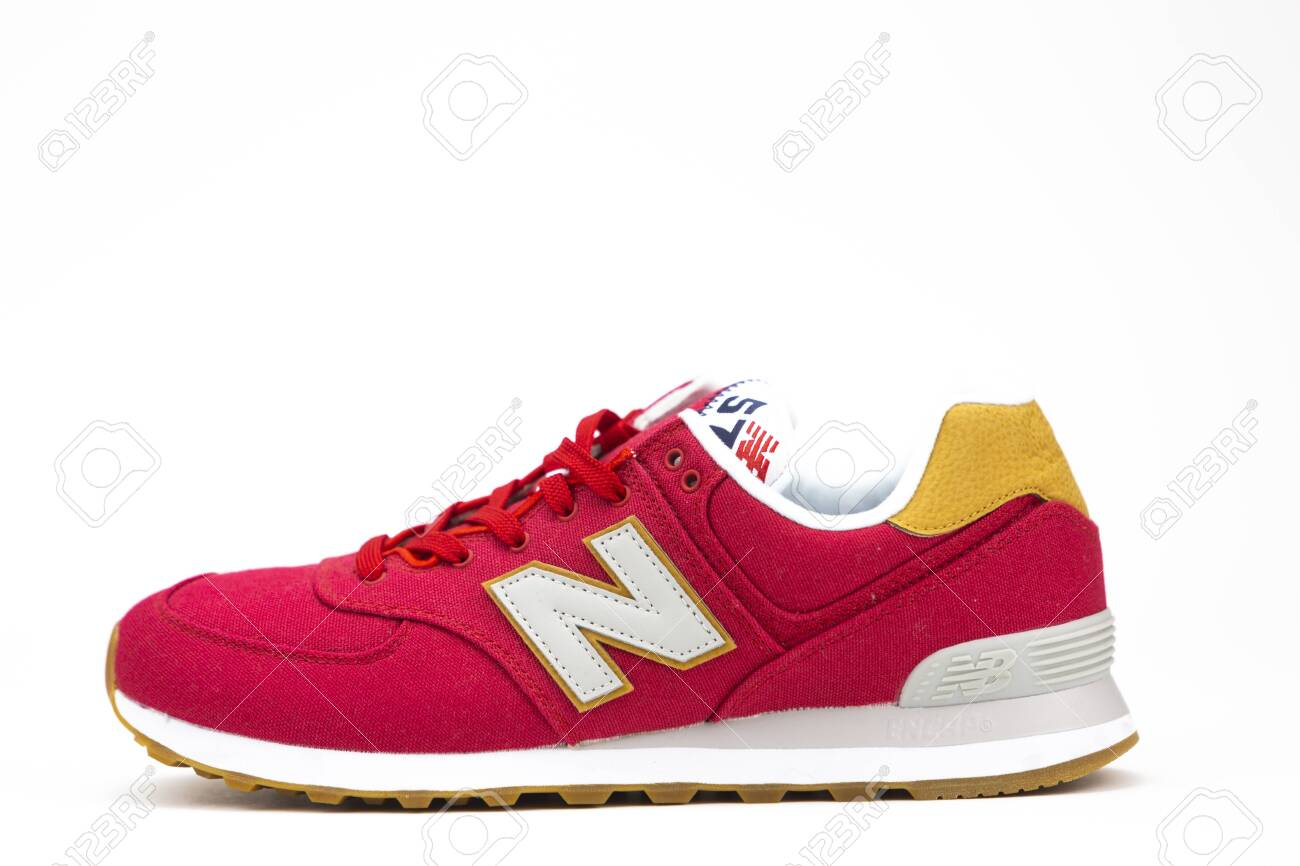 competitive price 34077 f45b9 BOSTON, MA, USA, January 2019 - New Balance NB 574 athletic shoes..