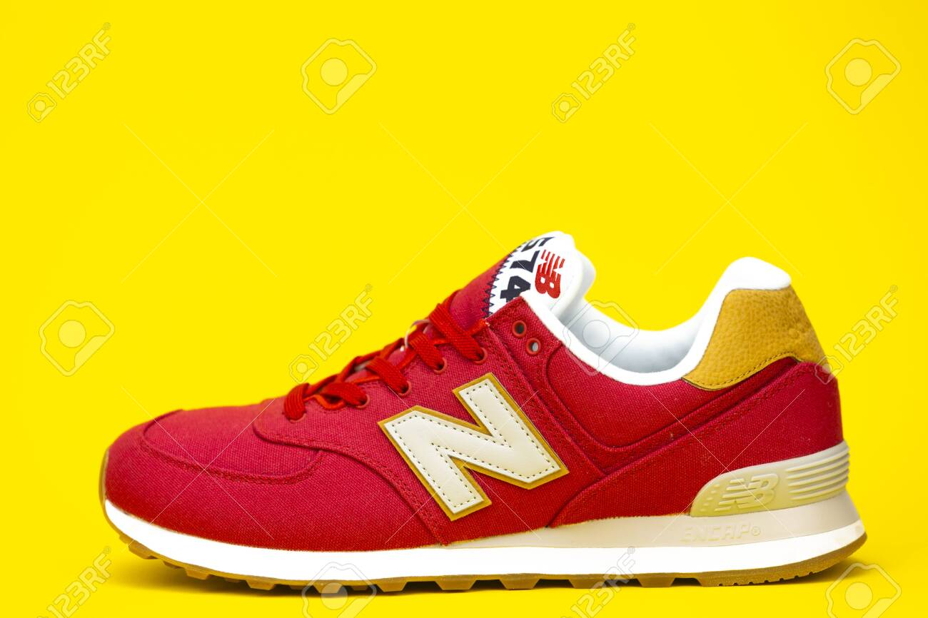 size 40 610f9 92434 BOSTON, MA, USA, January 2019 - New Balance NB 574 athletic shoes.