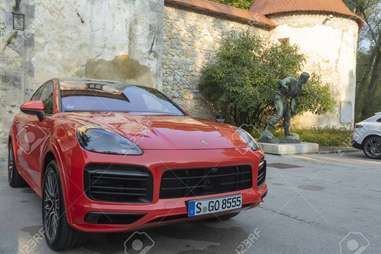 Slovenia Ljubljana 31 August 2019 Red Porsche Cayenne Coupe Stock Photo Picture And Royalty Free Image Image 138400326