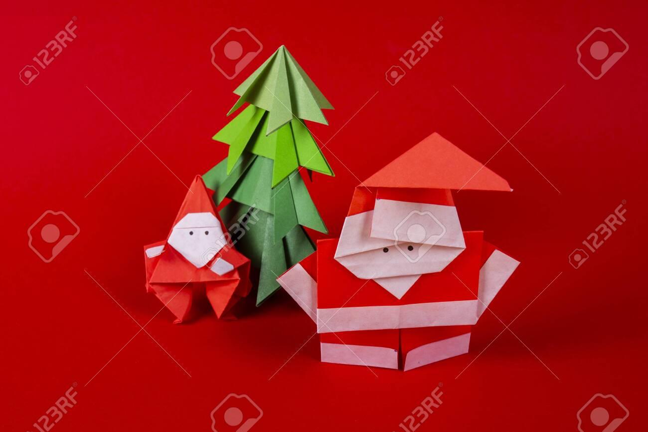 Origami fir-tree stock illustration. Illustration of holiday ...   866x1300