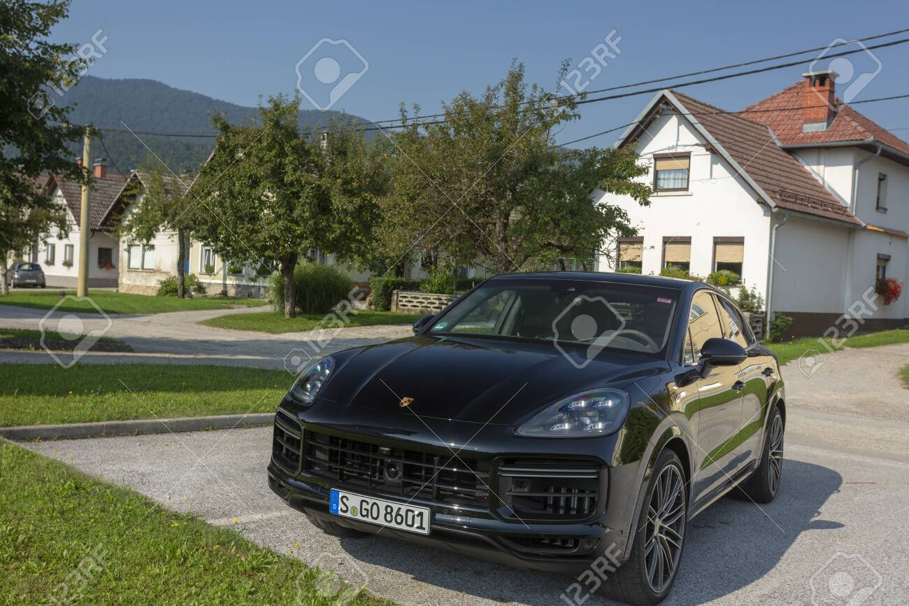 Slovenia Ljubljana 31 August 2019 Black Porsche Cayenne Coupe Stock Photo Picture And Royalty Free Image Image 138400408