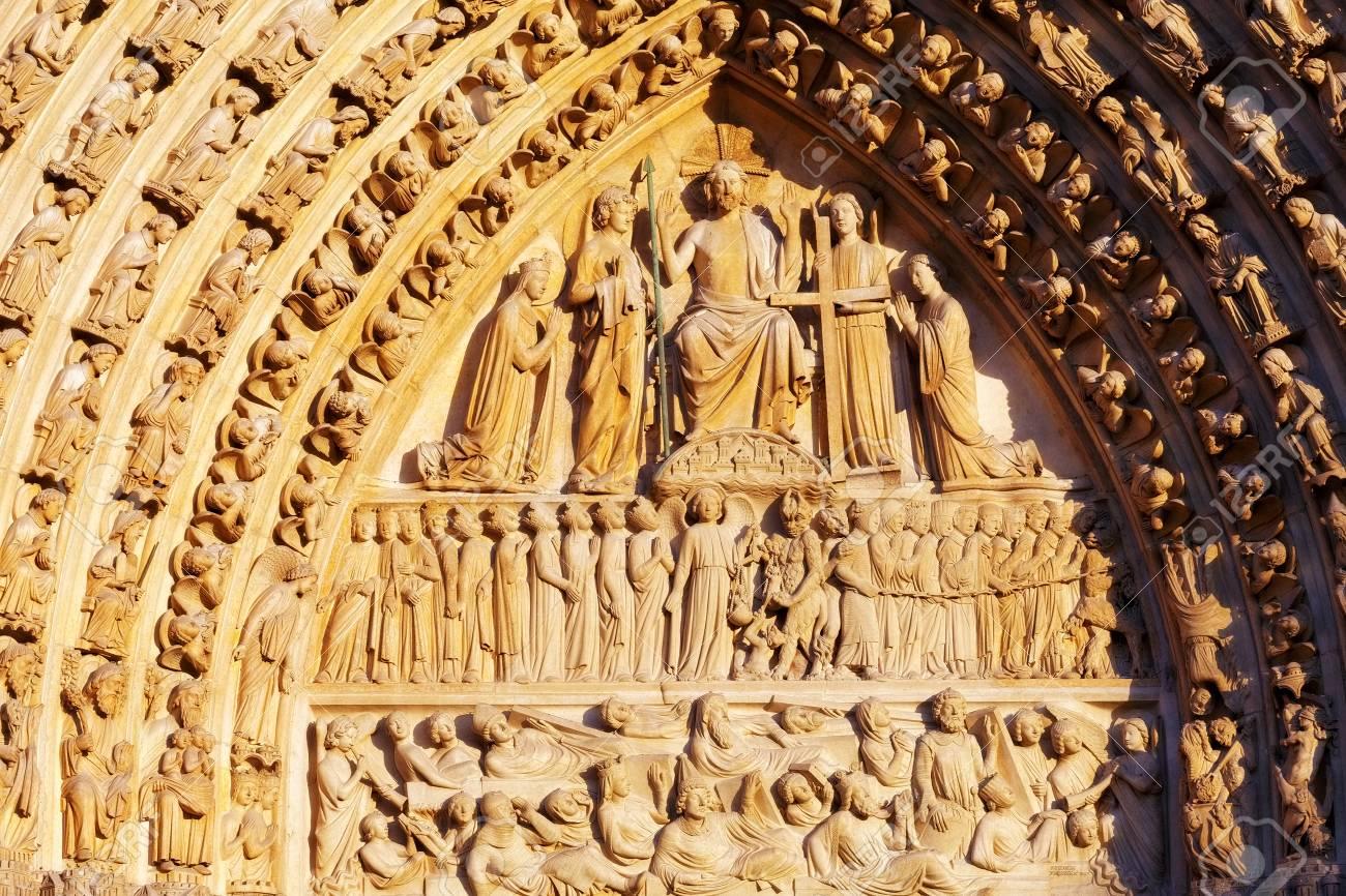 Details of Notre Dame de Paris Cathedral.France Stock Photo - 24352521