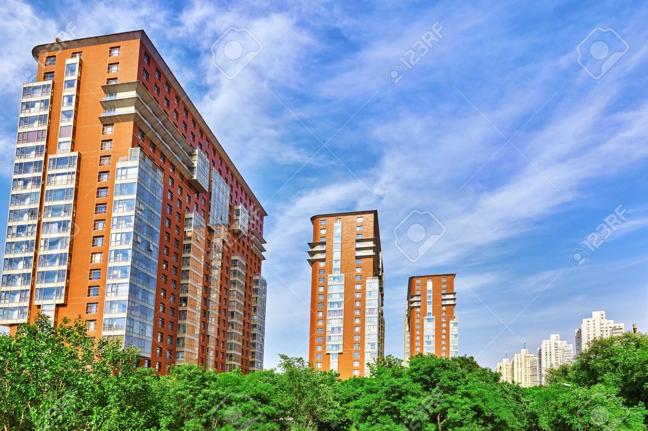 Des tours d habitation modernes et immeubles de bureaux en