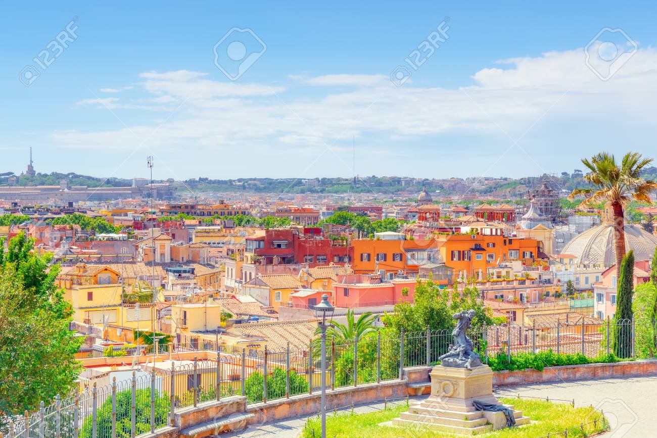 Beautiful Landscape View Of Rome Or His Called Eternal City