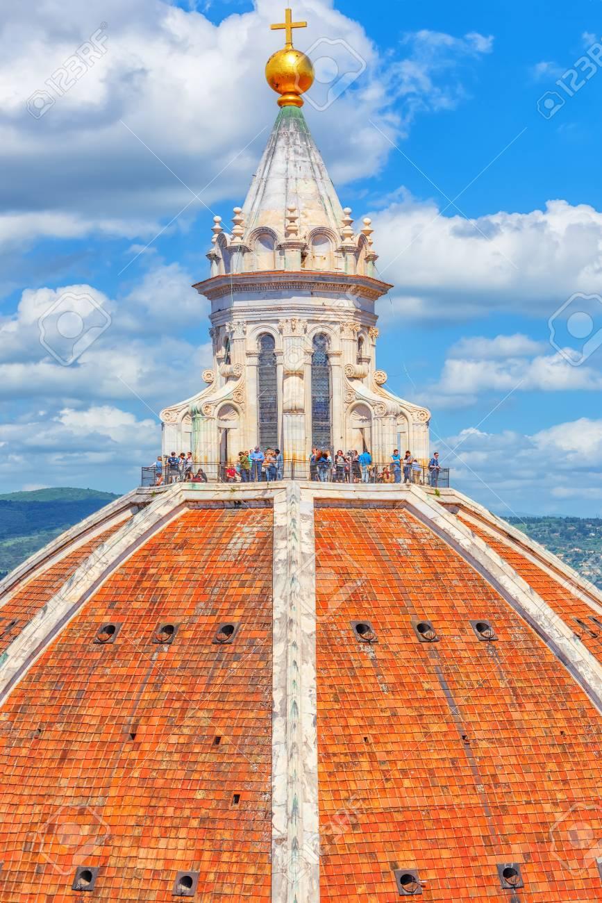 florence italy may 13 2017 above view dome santa maria stock