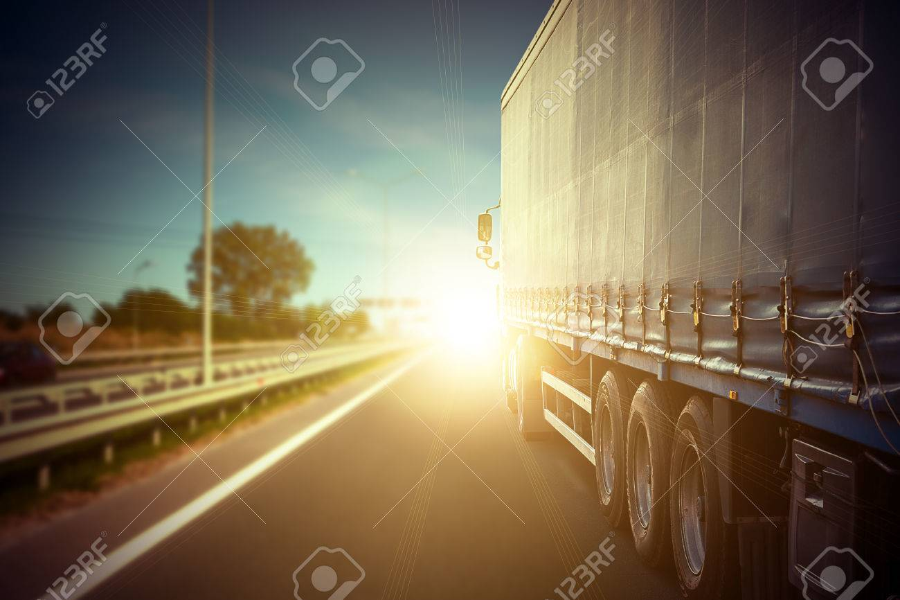 truck on a highway - 37000998