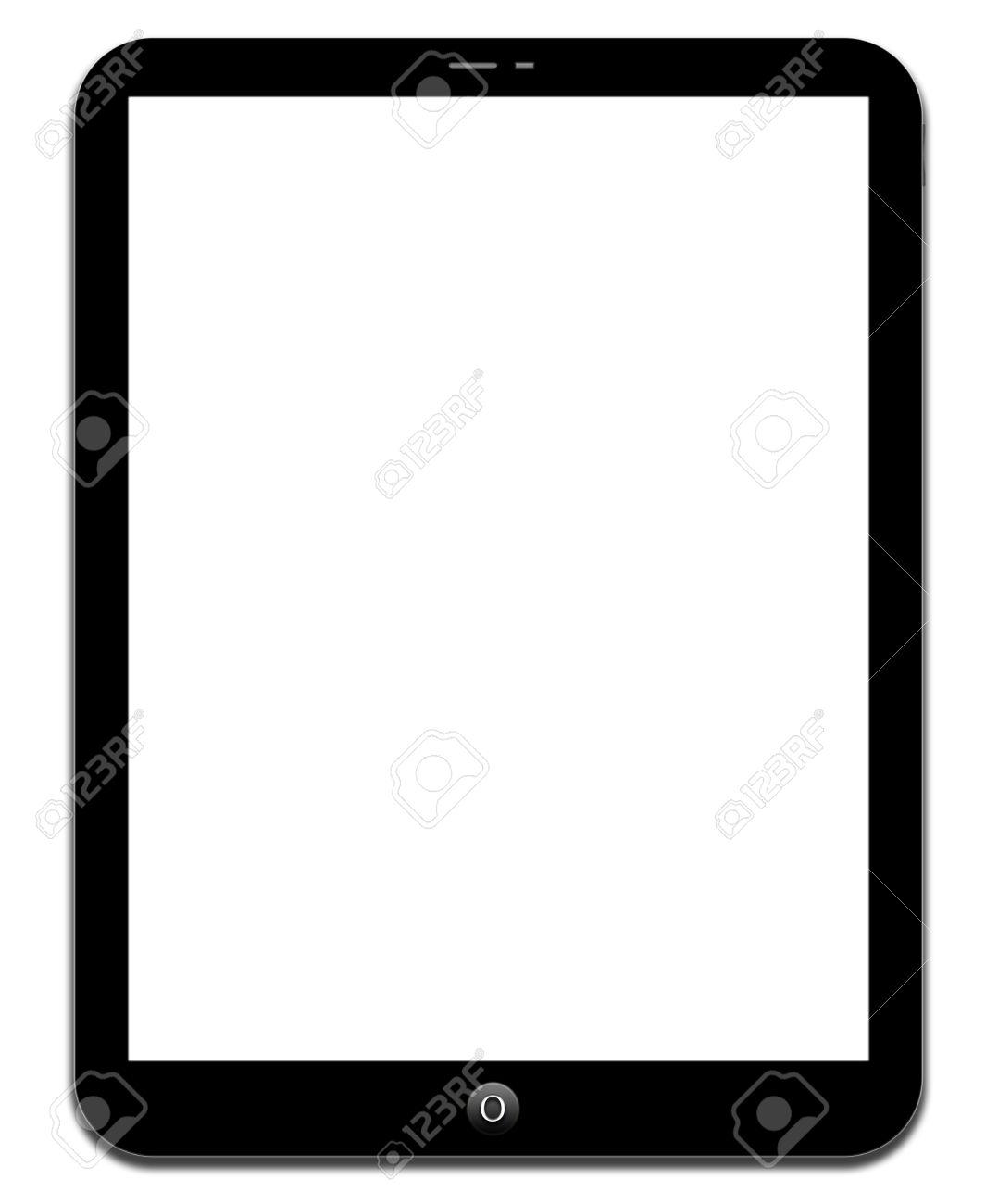 Black tablet on white background - 37269912