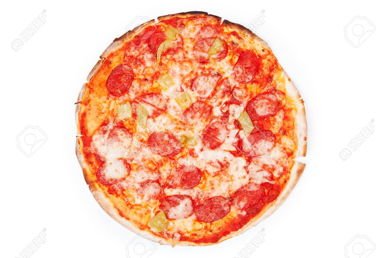 Pizza isolated on white background - 37693071