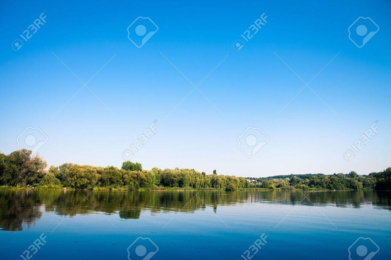 Picturesque forest and the river - 38125928
