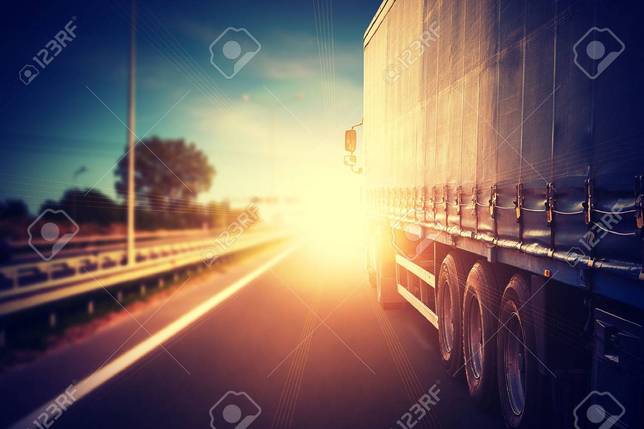 truck car on the highway - 38125938
