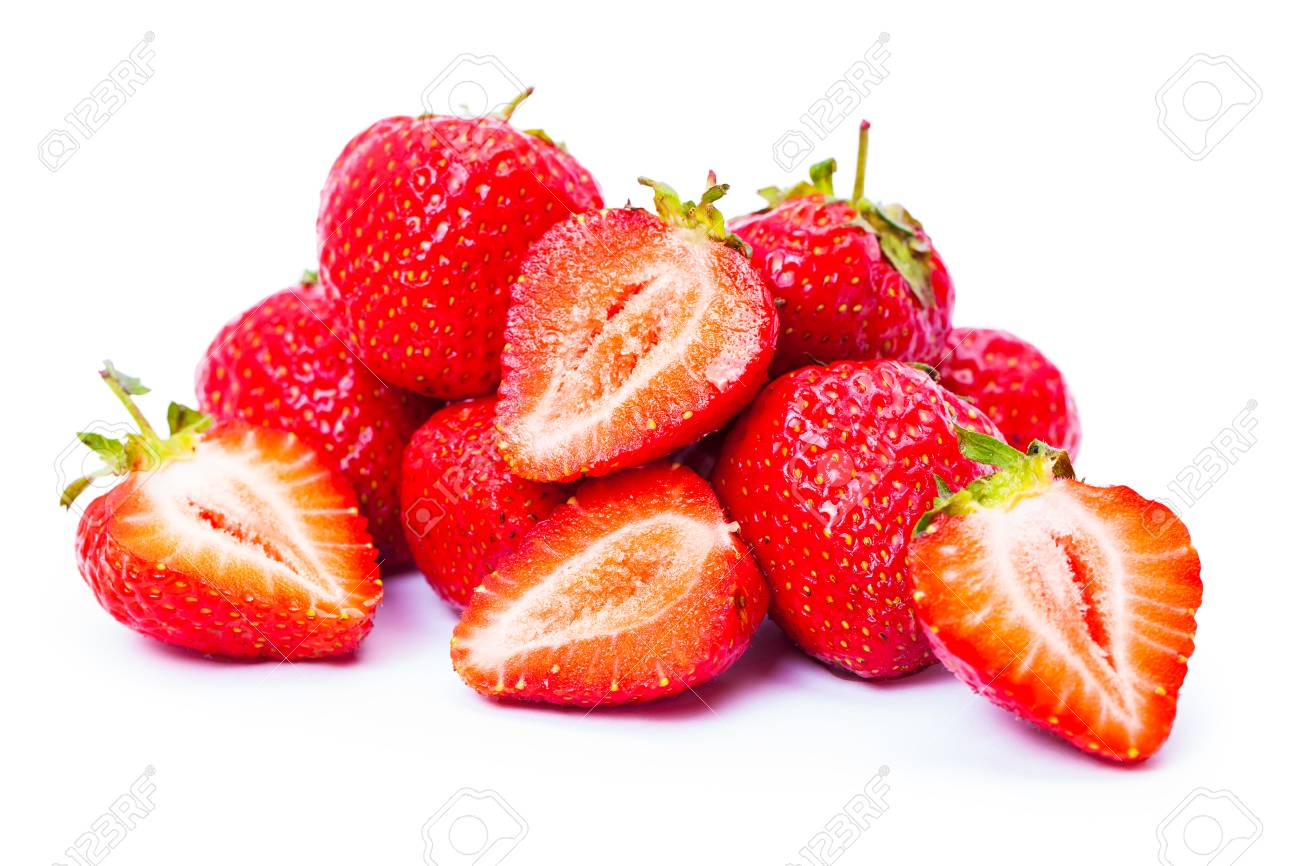 strawberry isolated on white background - 45182772