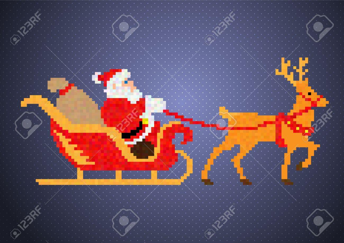 Père Noël Pixel,Art