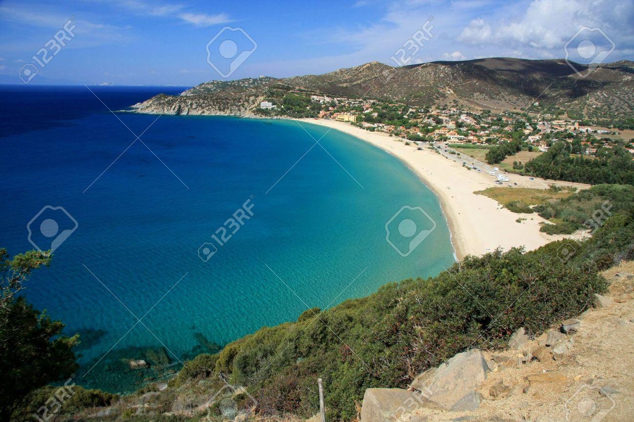 Solanas Beach Sardinia View of Solanas 39 Beach