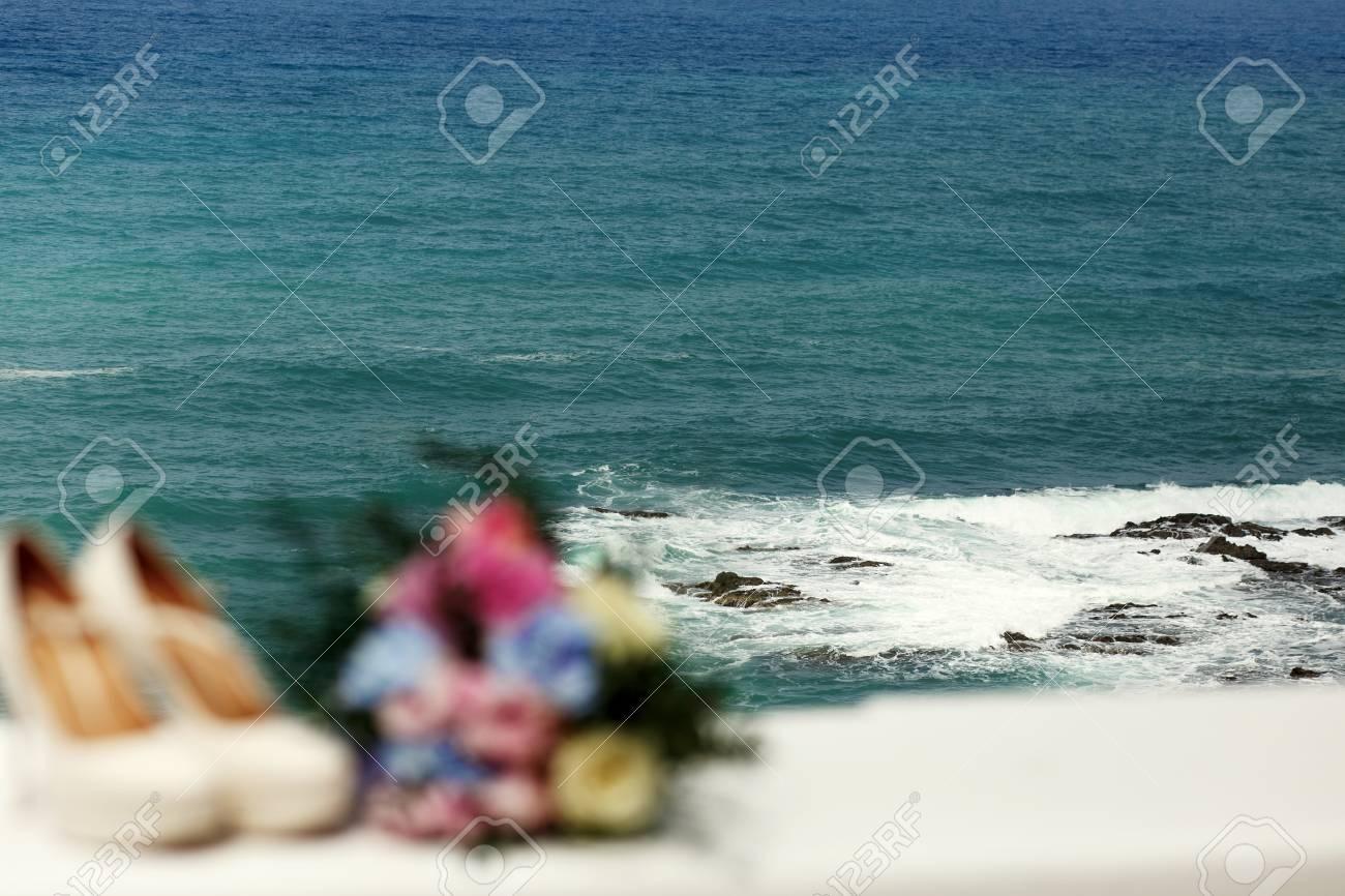 chaussure de mariée mer