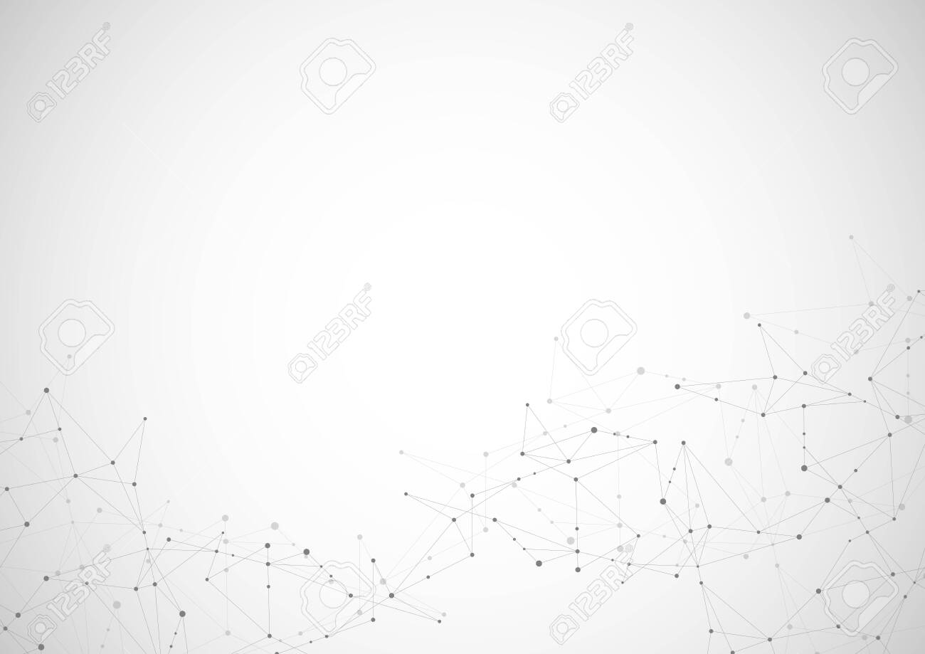 Abstract connecting dots and lines. Connection science and technology background. Vector illustration - 142220794
