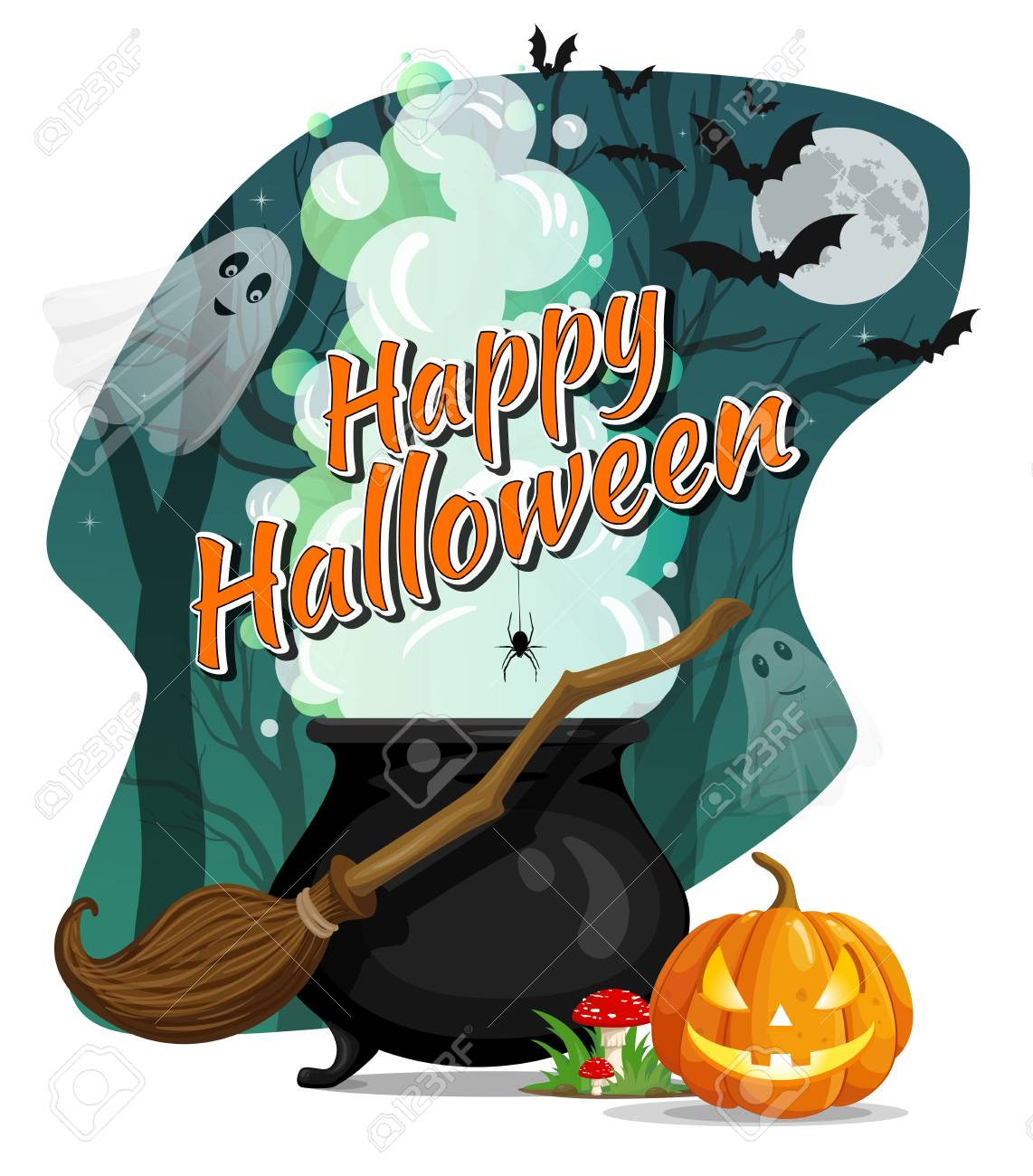 Witches Brew Happy Halloween Banner