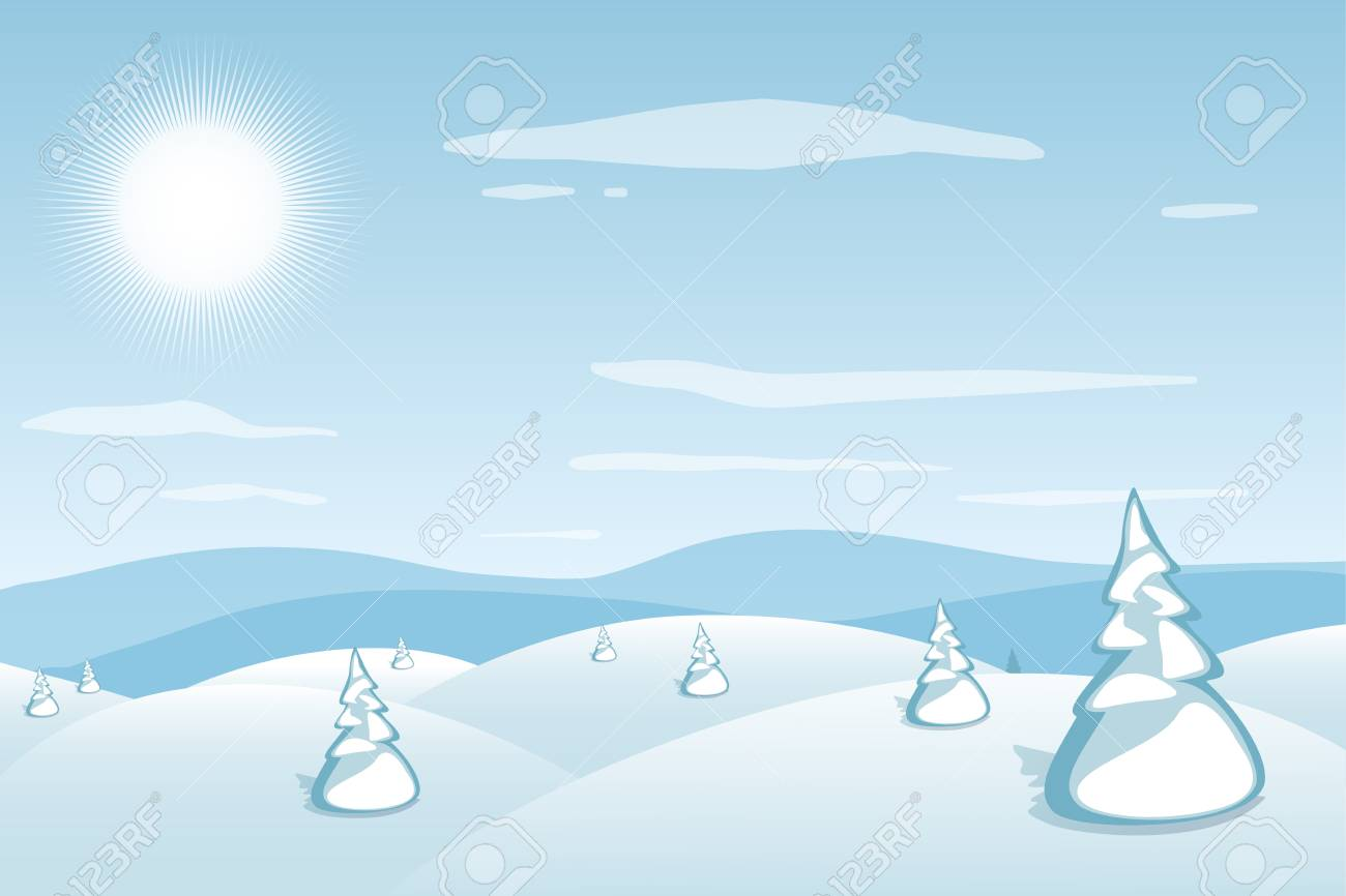 Winter Landscape Backgrounds Clip Art