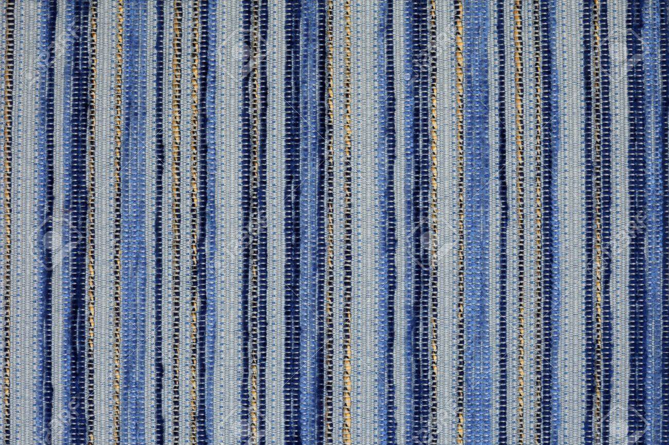 Blue Furniture Fabric Texture Perfect To Use As A Background Stock
