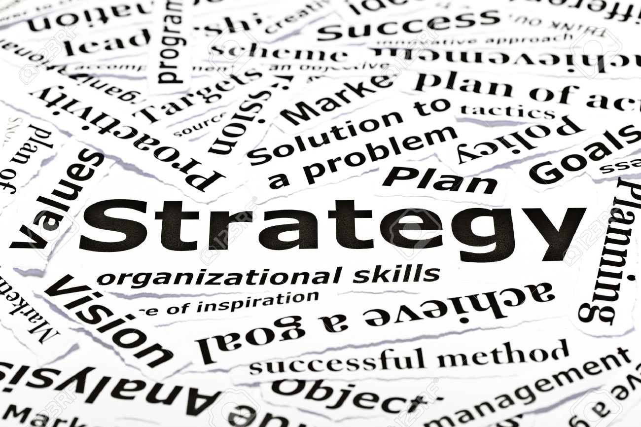 'Strategy' concept with many other related words Stock Photo - 9722585