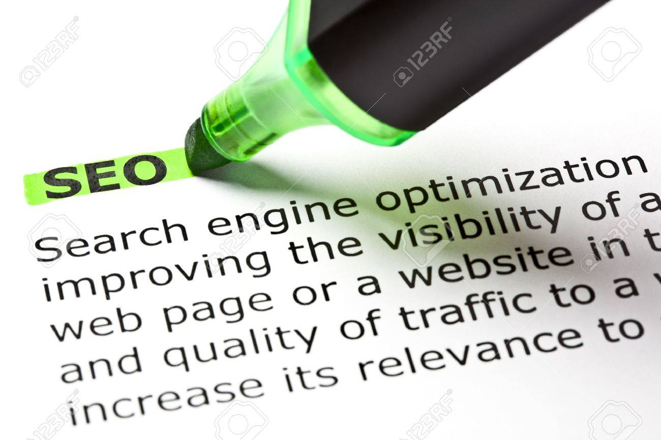 'SEO' highlighted in green with felt tip pen Stock Photo - 9722589