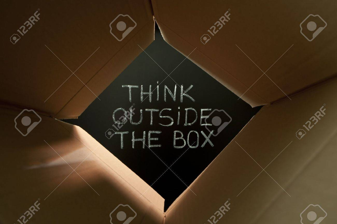Concept image about unconventional or different thinking. Stock Photo - 9947351