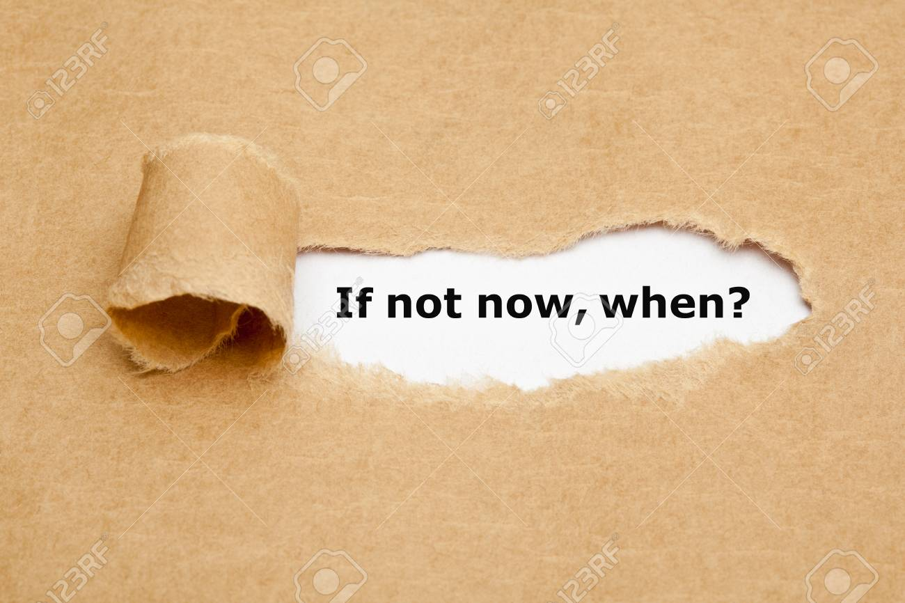 If Not Now When, appearing behind torn brown paper. - 38052291