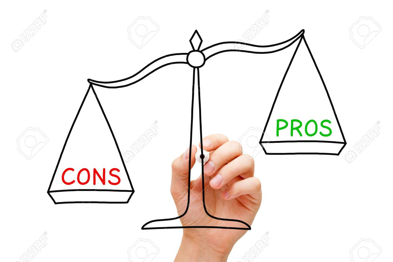 More Cons Than Pros Scale Concept - 108843346