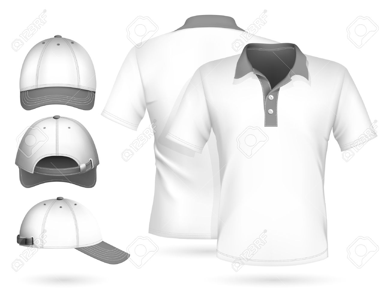 Shirt Vector Template Vector Men Polo Shirt Design