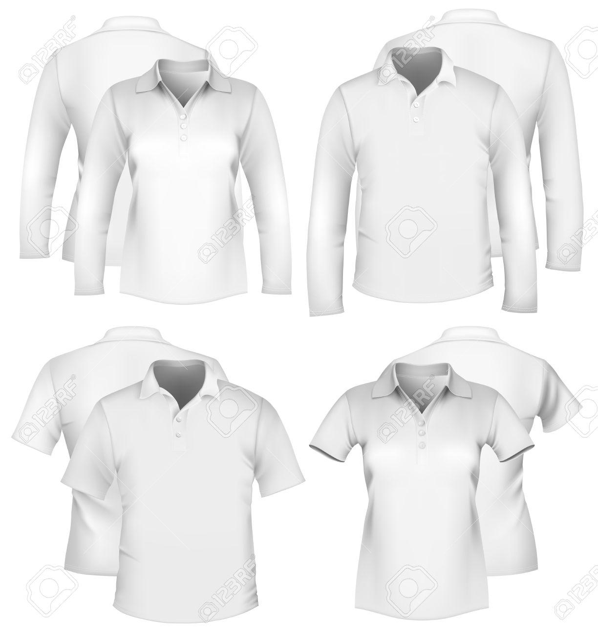 Shirt design vector pack - Vector Men S And Women S Shirt Design Templates Stock Vector 10053375