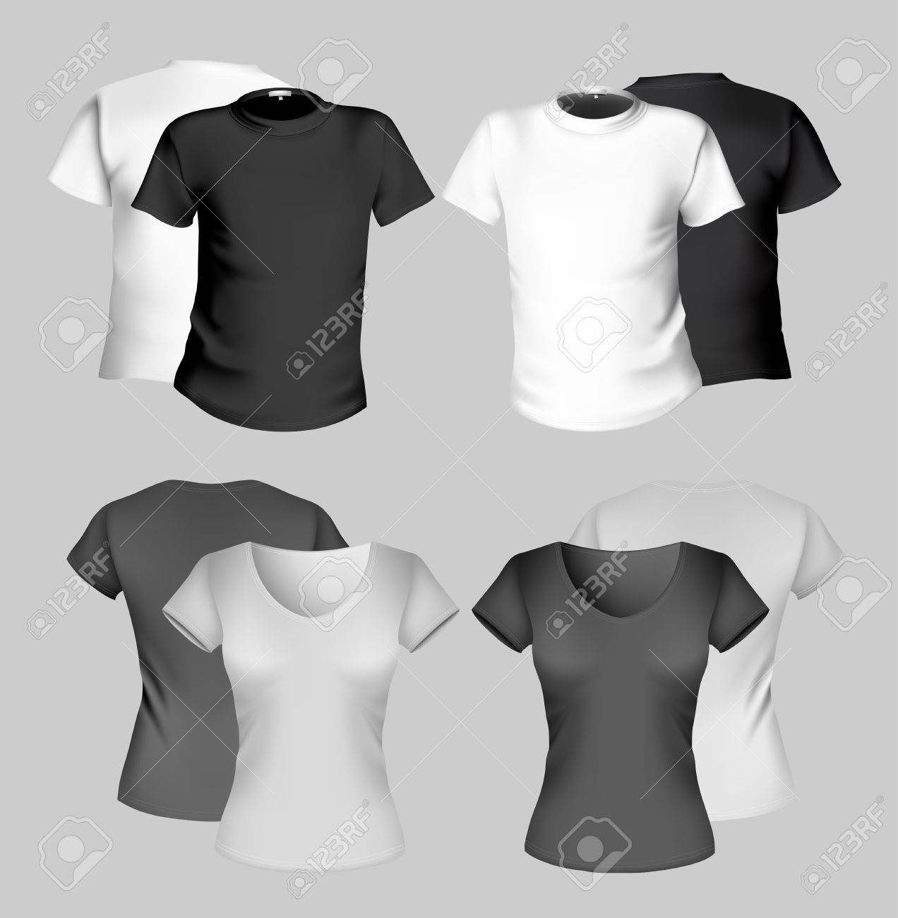 Black t shirt design template - T Shirt Design Template Men And Women Black And