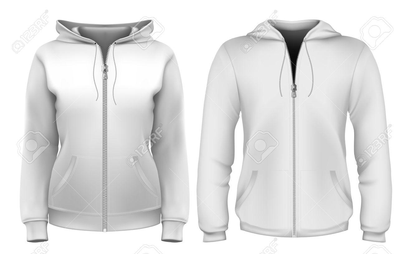 Sweatshirt Design Template (man & Woman) Royalty Free Cliparts ...