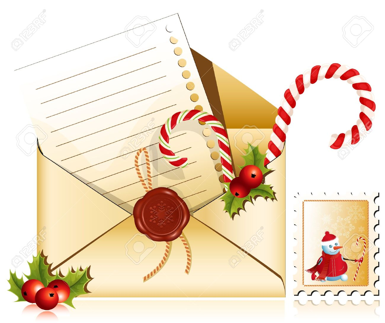 christmas mail letter to santa stock vector 10053520