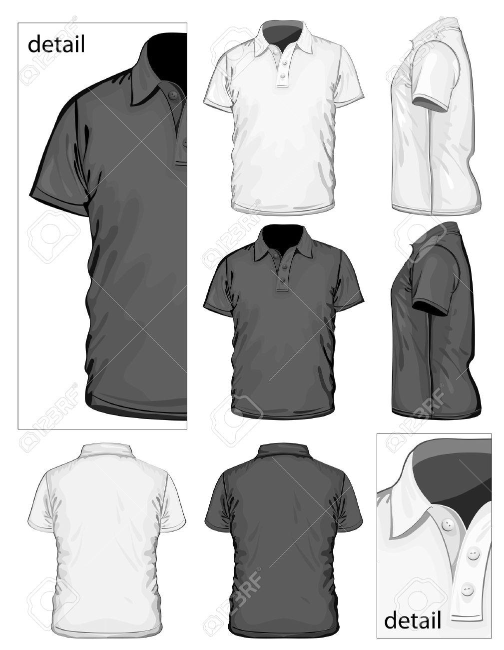 Black t shirt vector - Black Tshirt Vector Men Illustration