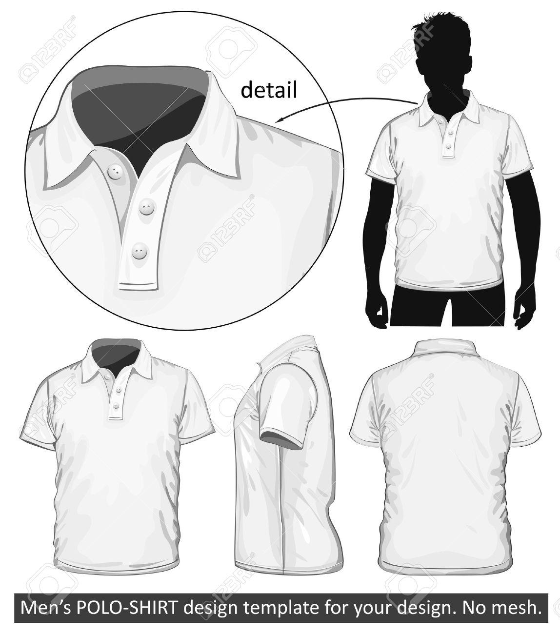 Polo shirt design vector - Polo Shirt Vector Men Illustration