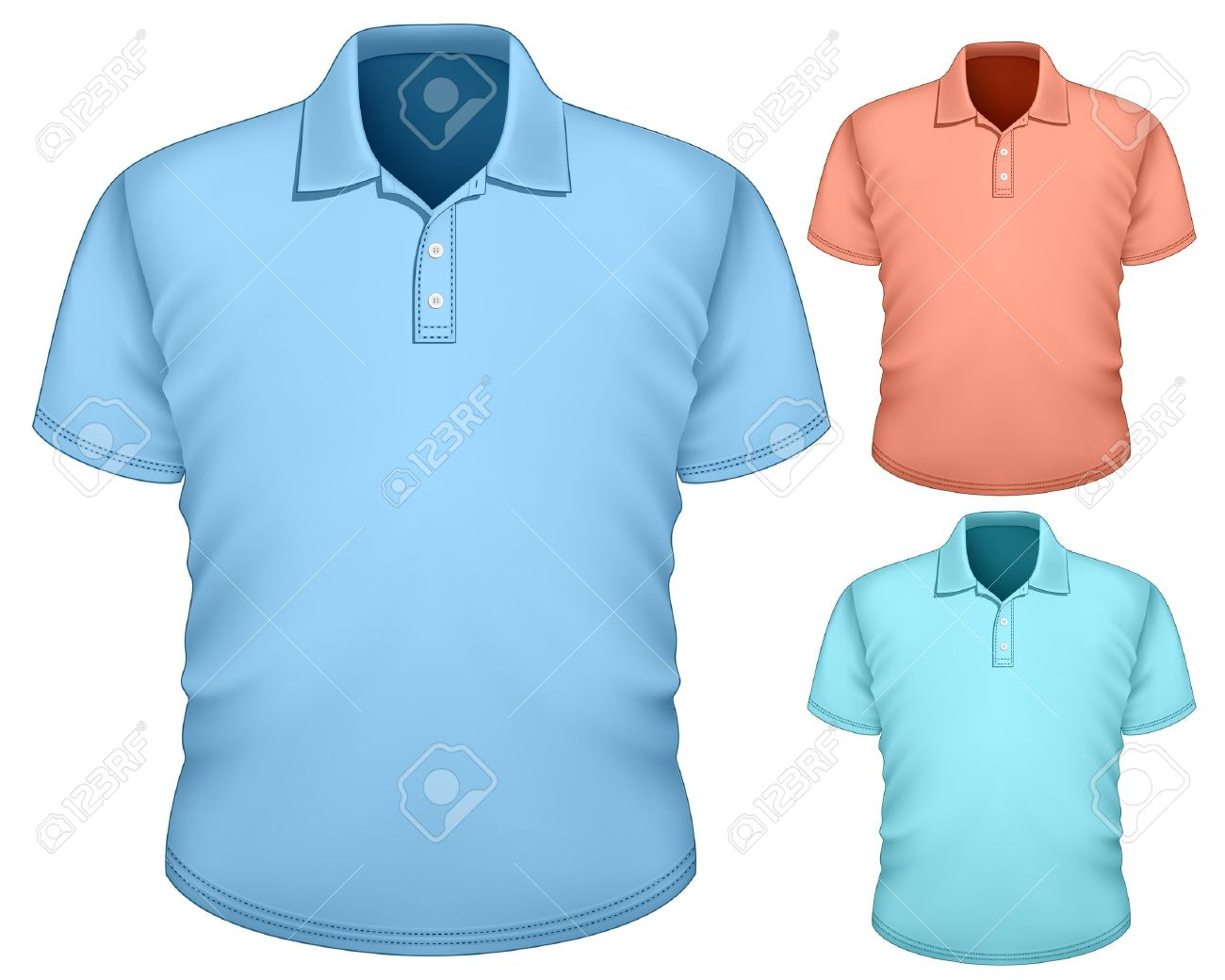 Shirt design with collar - Men S Polo Shirt Design Template Stock Vector 18403758