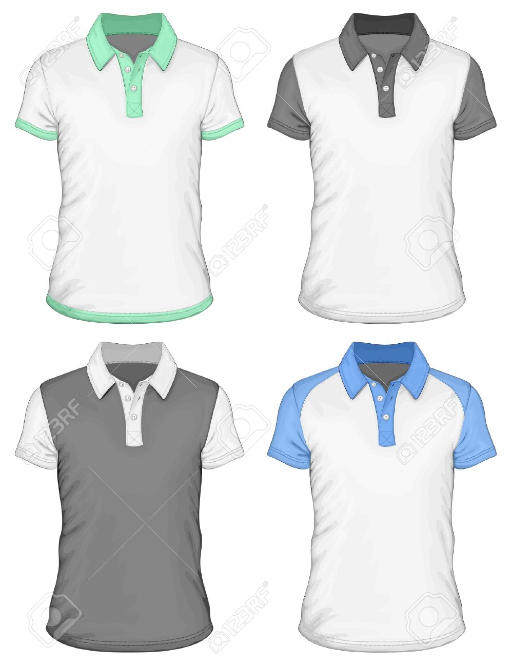 Shirt design with collar - Men S Polo Shirt Design Templates Stock Vector 20243123