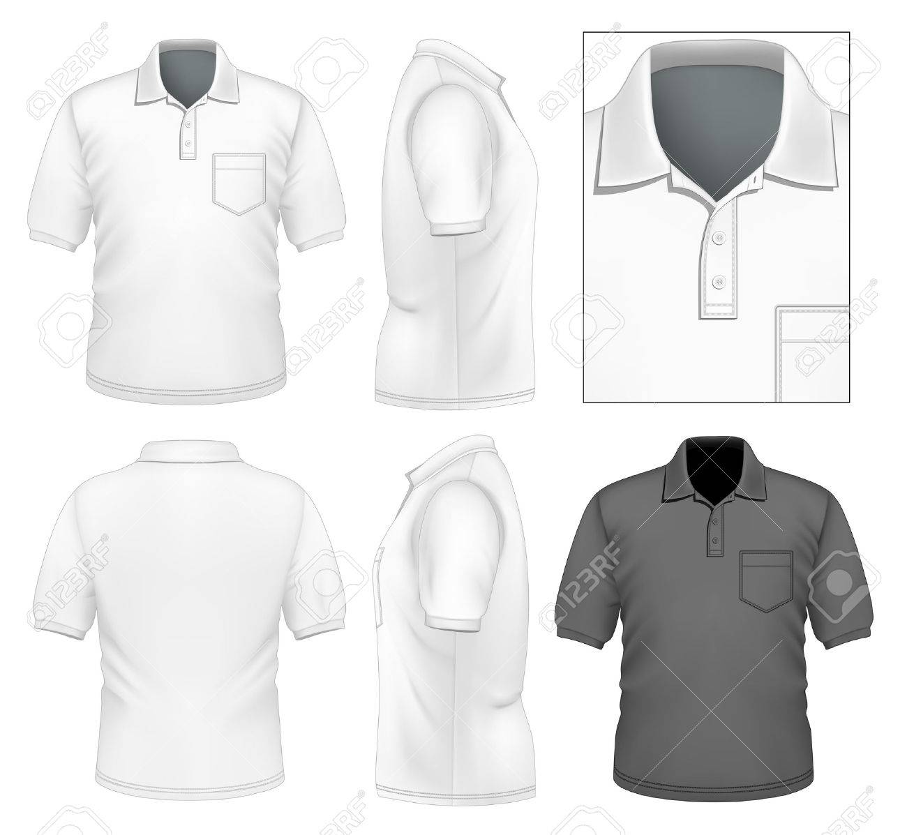 Photo Realistic Vector Illustration Men S Polo Shirt Design Royalty Free Cliparts Vectors And Stock Illustration Image 23237327