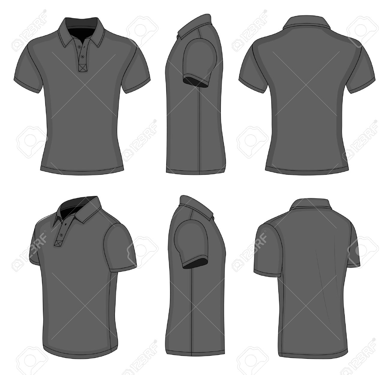 Shirt design black - Mens Shirt Mens Black Short Sleeve Polo Shirt Design Templates