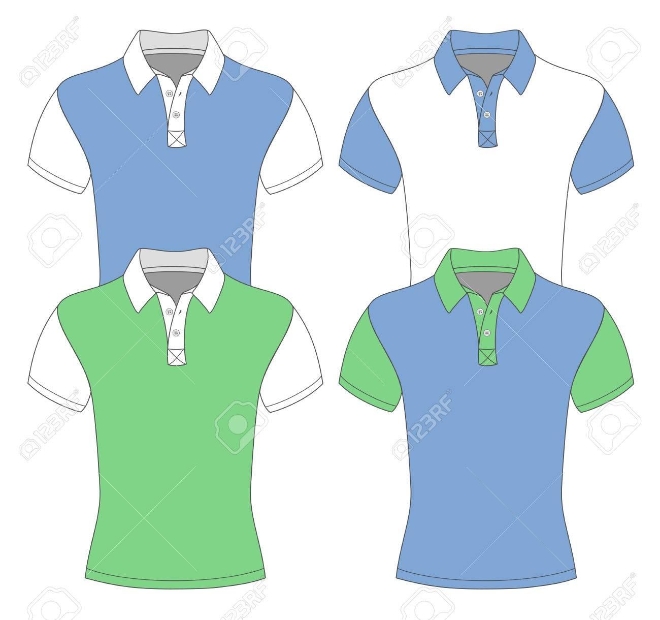 Polo shirt design vector - Men S Short Sleeve Polo Shirt Design Templates Stock Vector 26038676