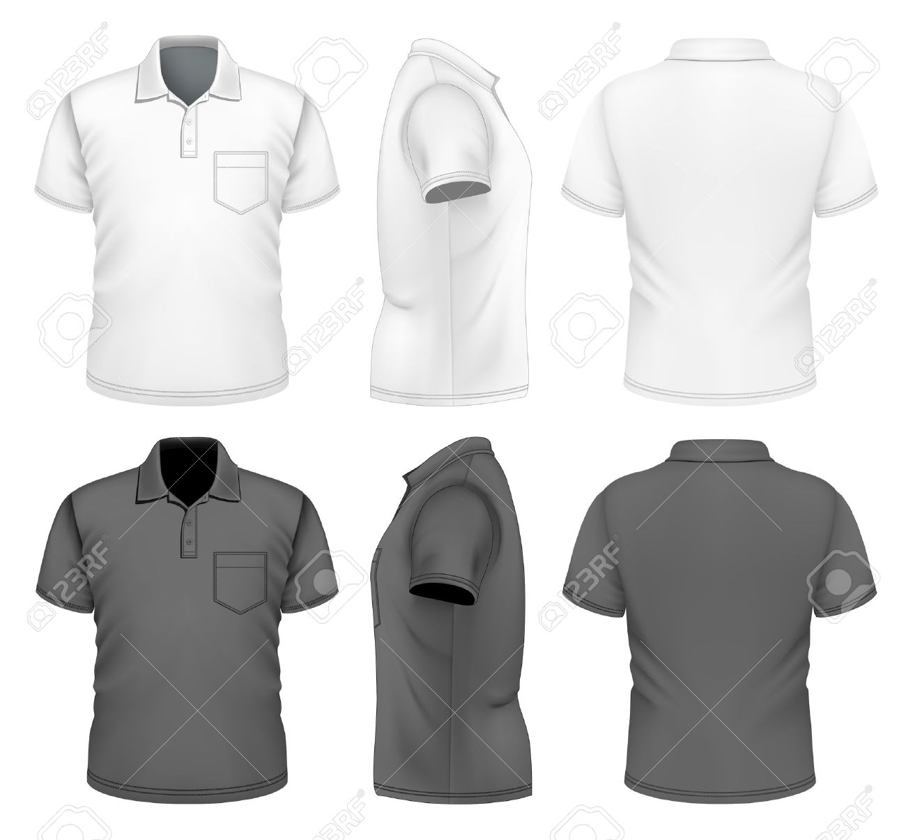 Men\'s Polo-shirt Design Template Royalty Free Cliparts, Vectors, And ...