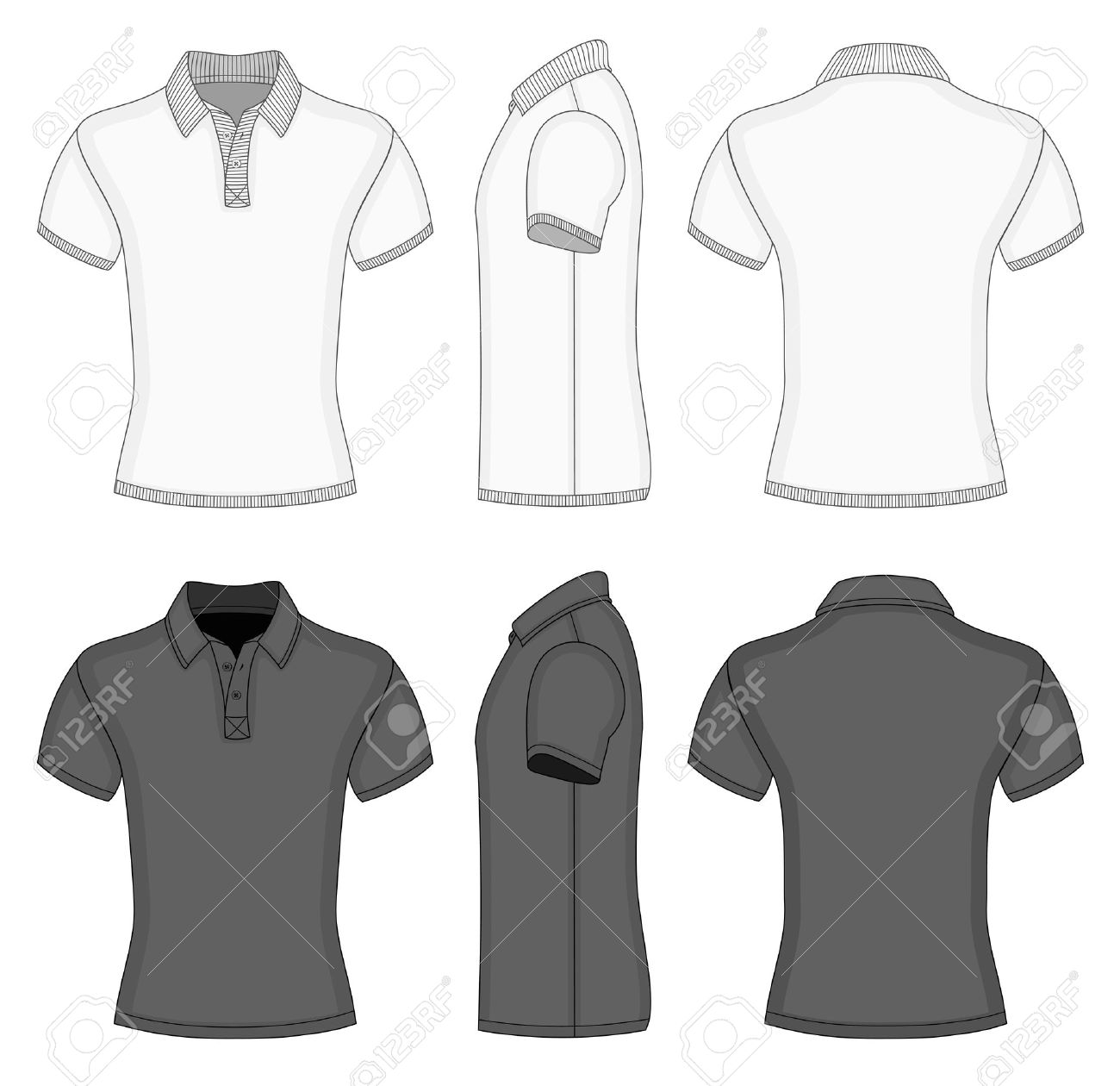 Men\'s Polo Shirt And T-shirt Design Templates Royalty Free Cliparts ...