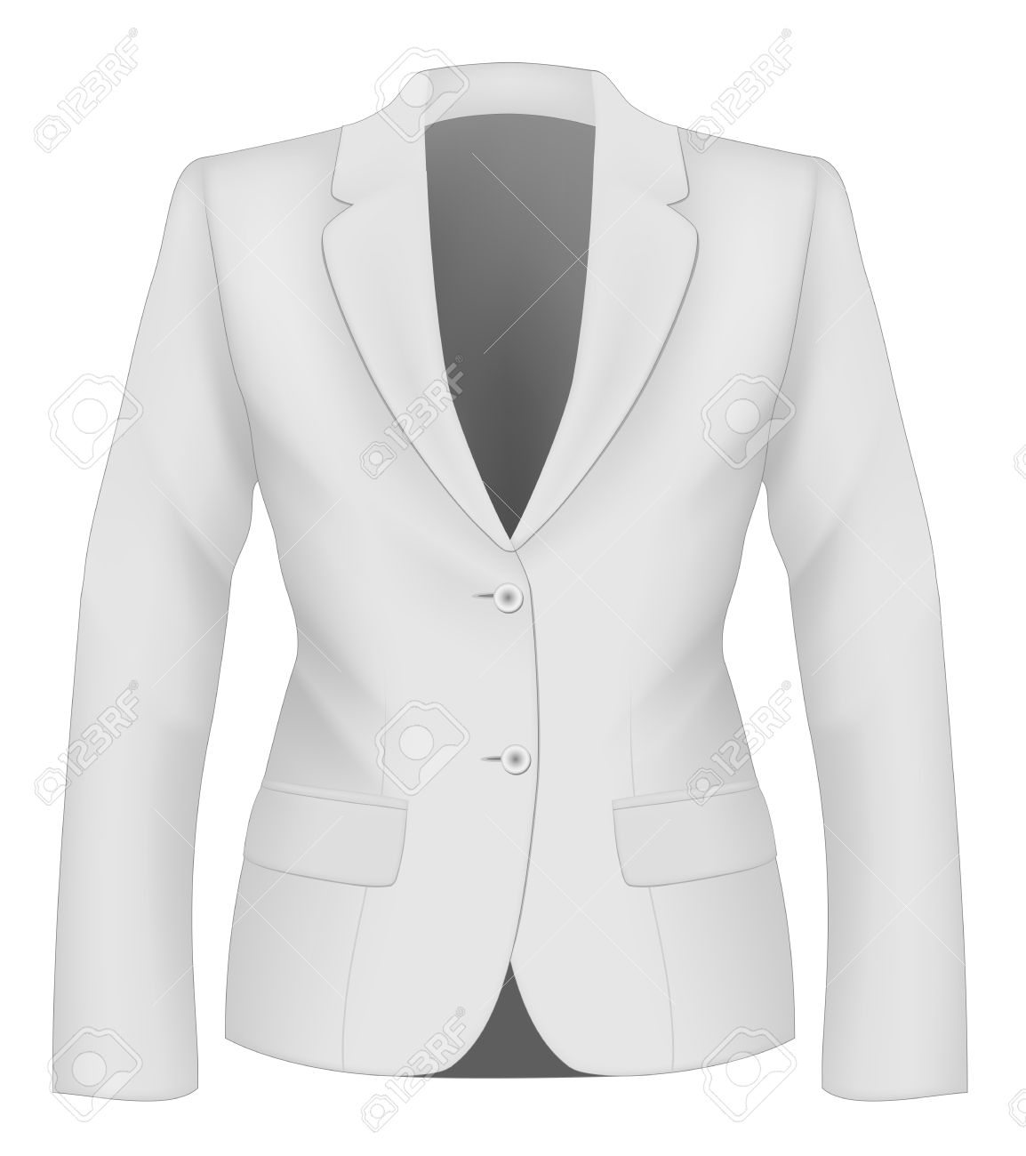 Ladies White Suit Jacket For Business Women. Formal Work Wear ...